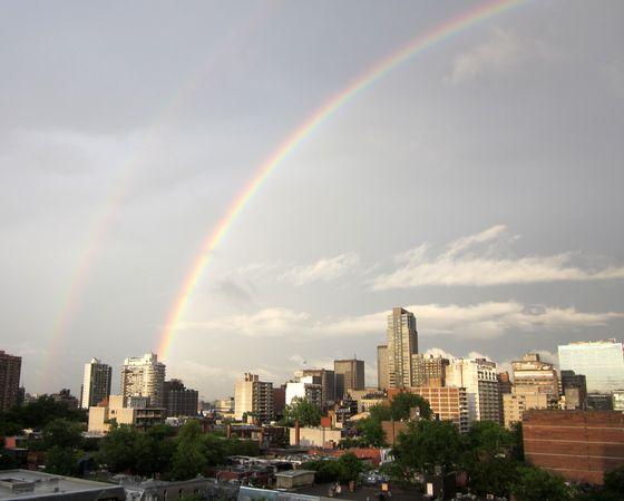 Double Rainbow in Montreal